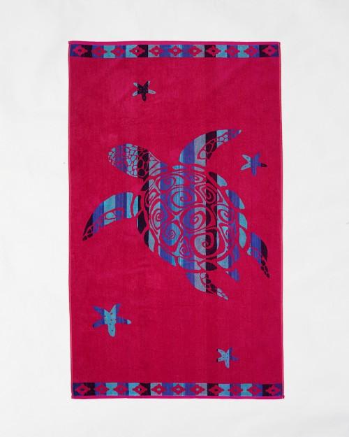 Beach towels Le Comptoir de la Plage - Fuxia turtle