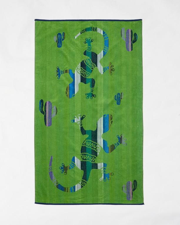 Beach towels Le Comptoir de la Plage - Green dragons