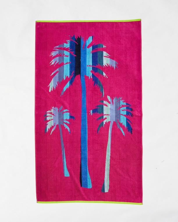 Beach towels Le Comptoir de la Plage - Fuxia palms