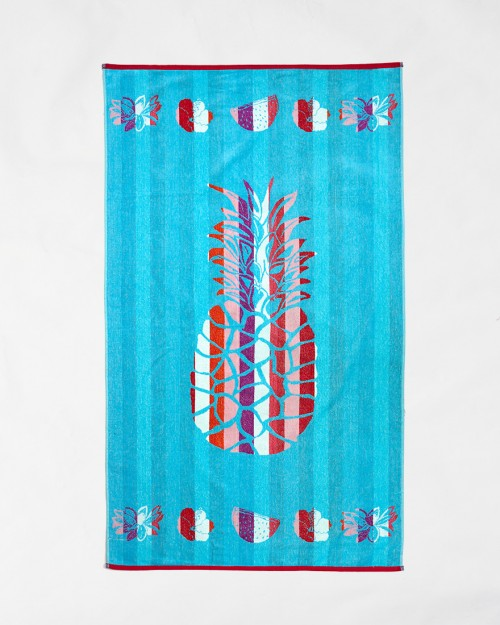 Beach towels Le Comptoir de la Plage - Blue pineapple