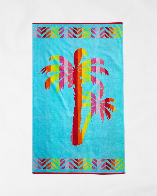 Beach towels Le Comptoir de la Plage - Blue palms
