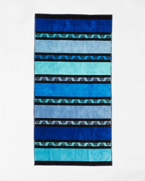 Beach towels Le Comptoir de la Plage - Blue big stripes