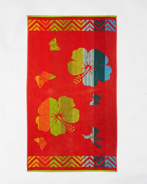 Beach towels Le Comptoir de la Plage - Orange flowers
