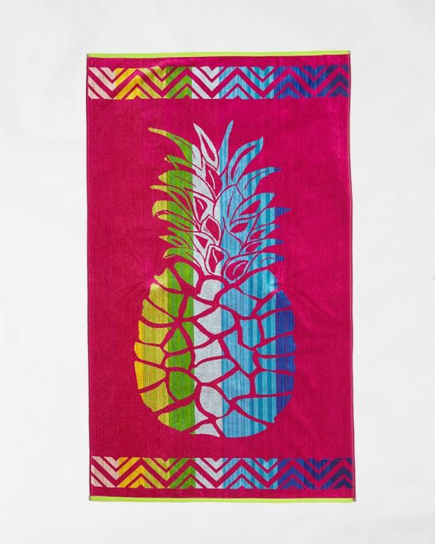 Плажна хавлия Le Comptoir de la Plage -  Fuxia pineapple