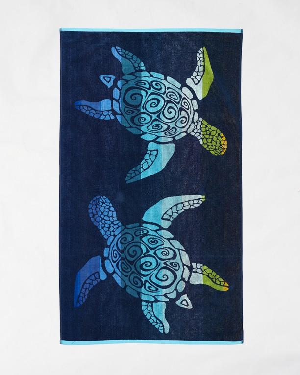 Плажна хавлия Le Comptoir de la Plage -  Blue turtles